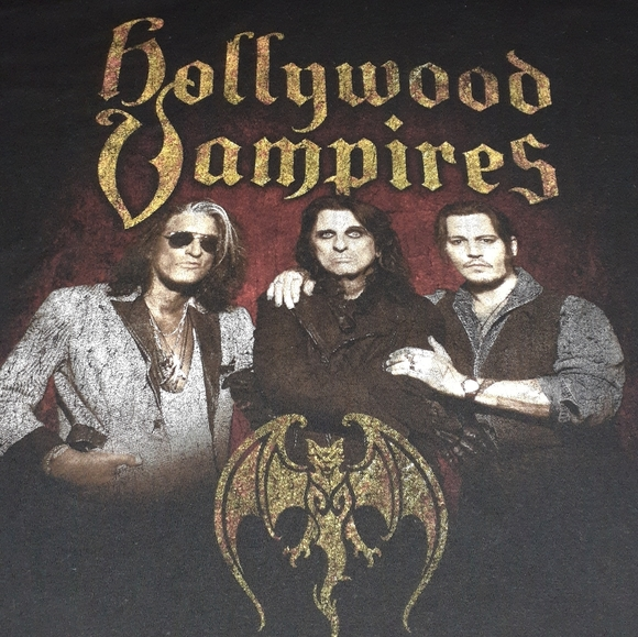 Tultex Other - Hollywood Vampires Tour Shirt Rock Metal Concert